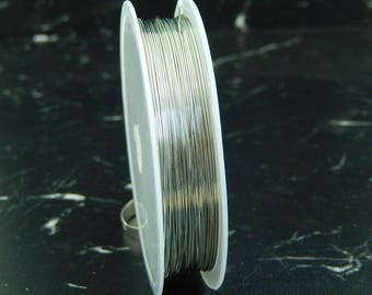 Wire silver plated 20 meters, 0, 3 mm