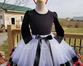 Christmas ribbon trimmed tutu outfit set, Santa tutu, Santa outfit set, pageant tutu, Holiday dress, Holiday tutu, girls tutu, xmas