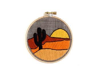 Desert Sunset Embroidery Hoop