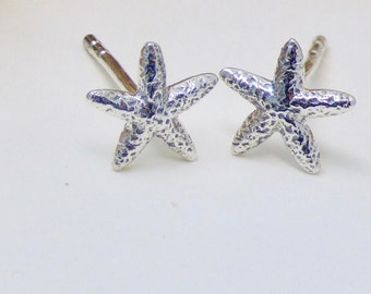 Tiny Sterling Silver Starfish Earrings, Stud earrings, minimalist earring, dainty earrings, simple earrings, girls earrings, girlfriend gift