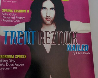 Details 1995 April fashion glam grunge Trent Reznor NIN Rob Lowe Annie Lennox Moby Liv Tyler Anton Corbijn music photography art