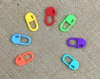 Locking Stitch Marker, Plastic Stitch Marker, Gifts for Knitter, Knitting Tool, Crochet Markers, Crochet Tools, Gifts for Crocheter