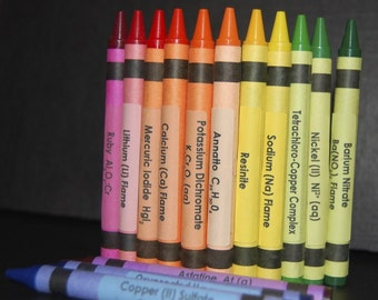 Chemistry Crayon Labels - set of 96 SALE 25% OFF