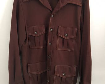 New Year SALE! 10% OFF!Men's 1960s Brown Jacket
