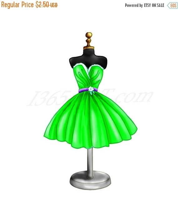 Clip Art Girls Party Dress