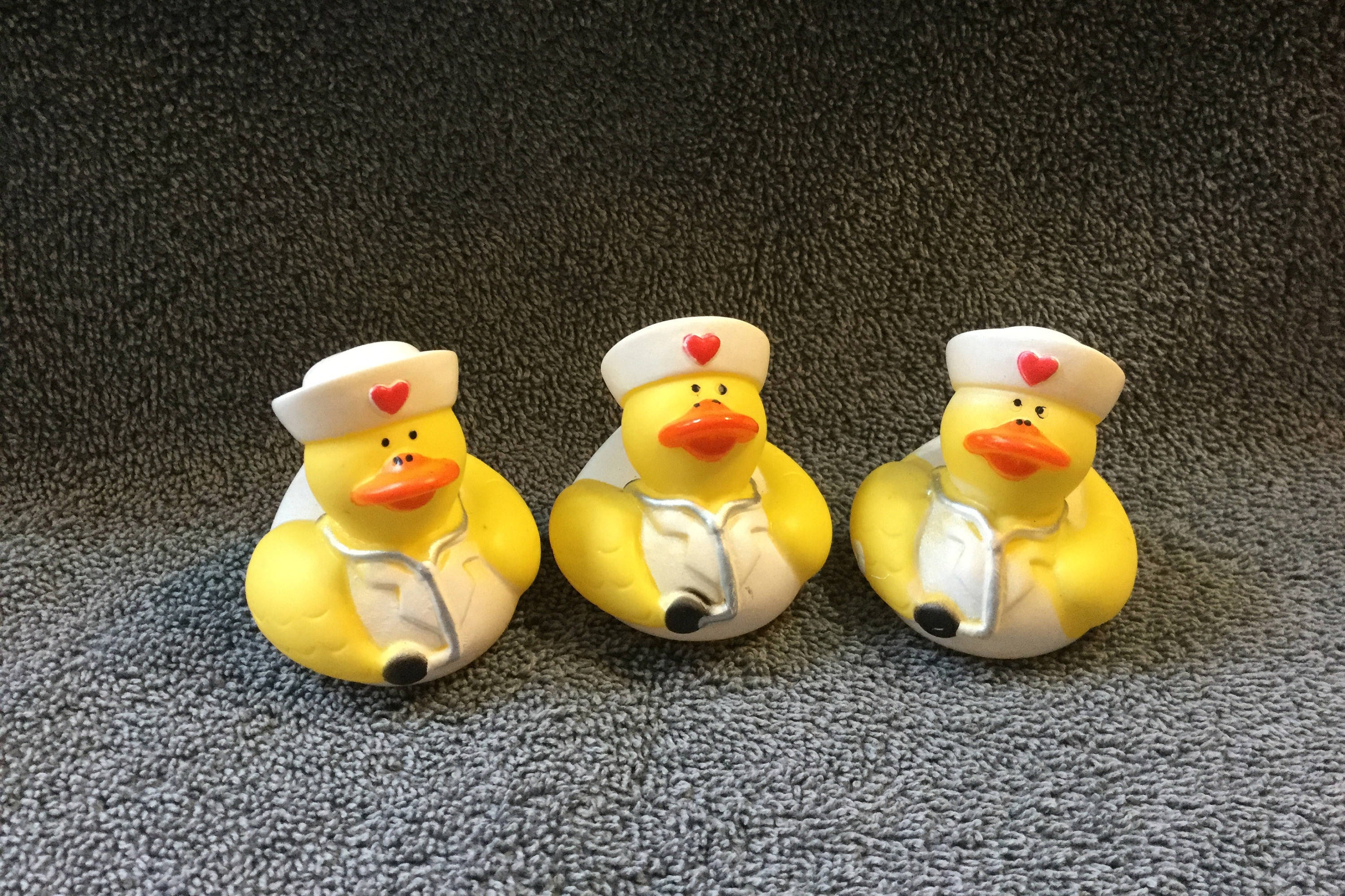 Nurse Rubber Ducks 3 party favors/cupcake toppers party