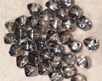 Bicone Beads, 6mm, Crystal Chrome, 00030-27401, 25 Beads, Czech Glass