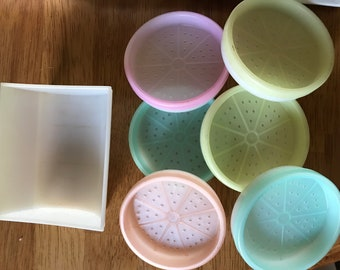 VIntage TupperWare coasters with holder...
