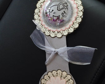 Rattle Shape Baby Shower Card
