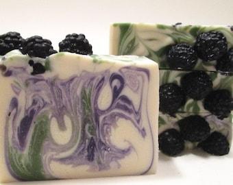 Oregon Blackberry Soap Handmade Cold Process Soap Oregon Soap