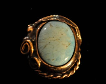 Beautiful 14KGF Ring - Robins Egg Blue from Easter Mine in AZ - 0080