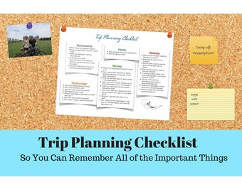 Trip Planning Checklist, PRINTABLE, Vacation Planning