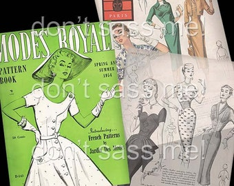 1950s Digital Download Vintage MODES ROYALE Pattern Catalog - 27 Pages Printable PDF