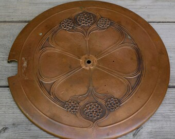 Antique Art Nouveau Copper Lid