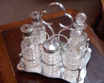 Silver Plate VICTORIAN CONDIMENT CASTOR Caddy Carrier
