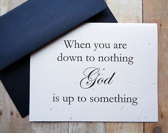 God Is Up To Something Note Cards Religious Encouragement Faith