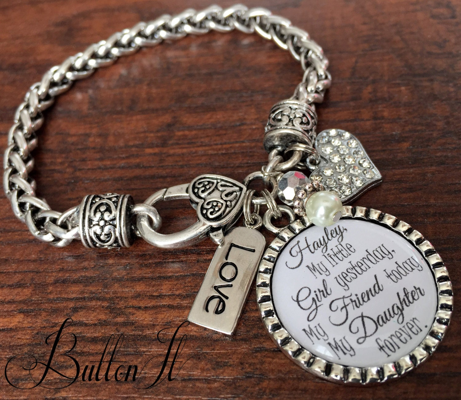 Mother Daughter Bracelet Personalized Wedding