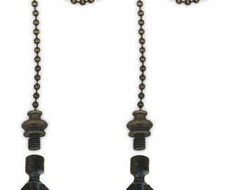 Royal Designs Fan Pull Chain with Seashell Finial – Antique Brass
