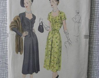 "1950 Dress - 32"" Bust - Vogue 7003 - 1950s Vintage Sewing Pattern"