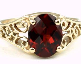 Mozambique Garnet, 14KY Gold Ring, R005