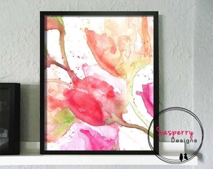 Abstract Flower Print - Botanical Art Print Giclee - Fine Art