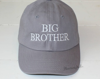 Big Brother Big Sister Baseball Cap, Pregnancy Announcement Ball Cap Low Profile, Youth Hats