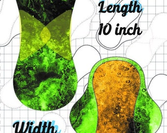Cloth Pad Pattern, Simply Curvy, Sewing tutorial, Serged Pad, PDF Sewing Pattern 10inch x 2 inch Snapped Width