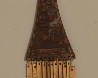 """Sumtra Calendar Wood Bamboo Batak People Luna 12 Month Shaman Calendar 11"""""""