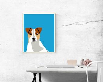 8 x 10 Archival Matte Jack Russell Terrier Print