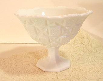 Westmoreland Milk Glass Pedestal Bowl