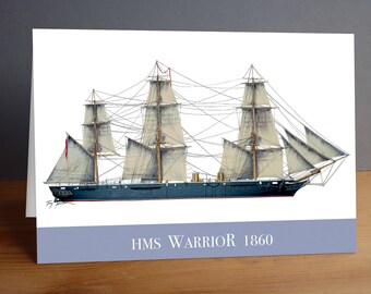 HMS Warrior 1860 - greeting card