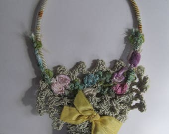 40s Crochet Flower Basket Fine Embroidered Doily Decor Vintage Crochet art Floral Basket Hand Crocheted Flower Basket Design Doilies