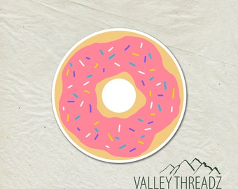 Donut Decal - Donut Vinyl Sticker - Doughnut Sticker - Car Window Decal - Laptop Sticker - Tumbler Decal