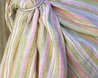Sparkly linen ring sling - Wildflower