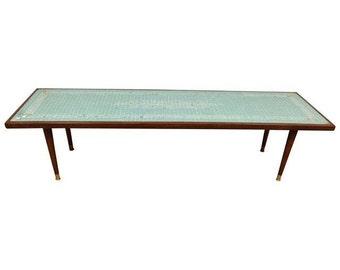 Mid-Century Tile Top Coffee Table
