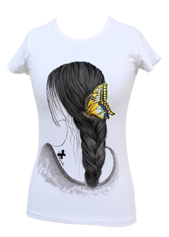 hand painted t - shirt