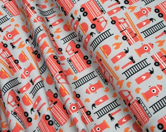 Jersey Little Darling Fire brigade and fire hydrant gray 0.54yd (0,5m) 003287