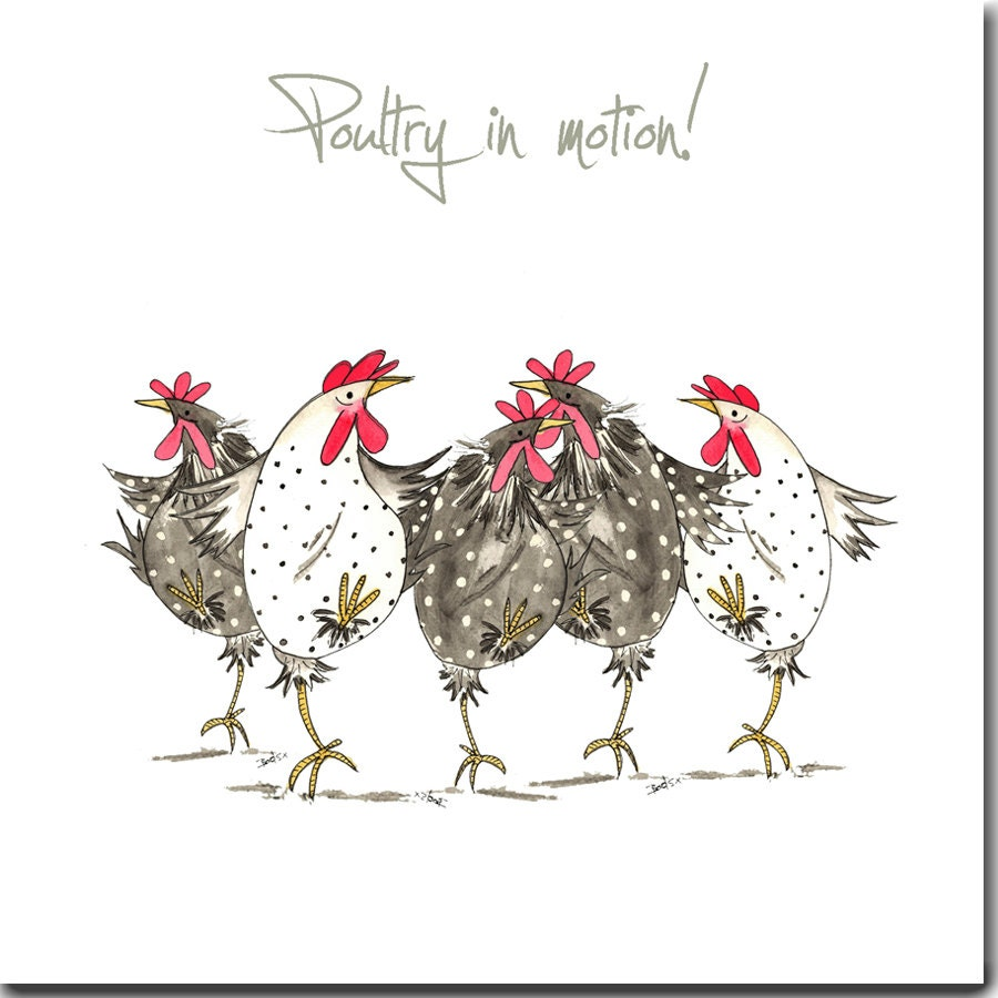 Chicken card poultry in motion greeting card funny chicken description chicken card kristyandbryce Gallery