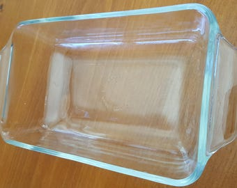 Replacement glass baking dish, clear thick glass all rounder, Made in U.S.A.