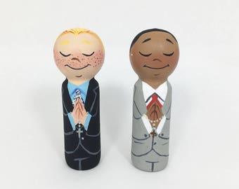 First Communion Boy Peg Doll / First Communion Portrait Dolls / First Holy Communion /Family Portrait / First Communion Cake Topper