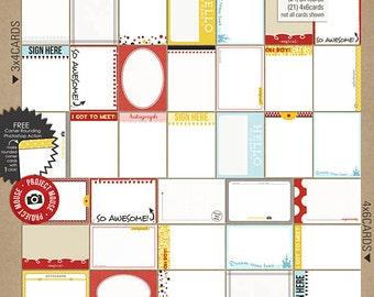 Proyecto ratón: Dedicatoria tarjetas - perfecto para la vida del proyecto y Scrapbooking Digital, Disney, Mickey Mouse