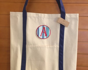 Canvas and Blue Tote