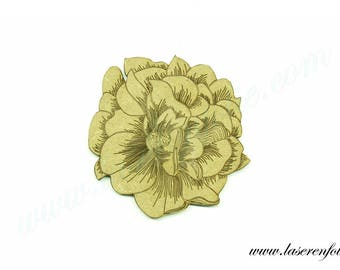 Flower style Camellia, made in medium, size 5cm