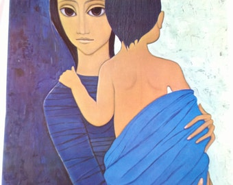 Nomads A Margaret Keane HALF OFF Big Eye Girl Lithograph Print 1963