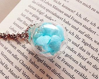 hydrangea flowers glass ball