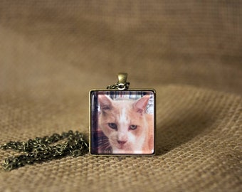 Handcrafted Memorial Pet Necklace or Keychain