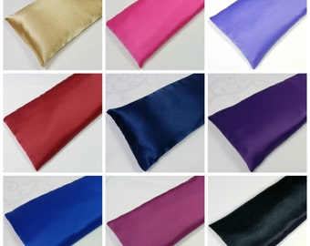 "Satin Eye Pillow 8"" or 10"" choose color and lavender or unscented yoga eye pillow"