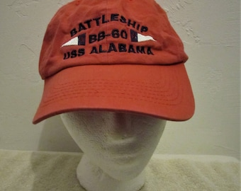 b0b6515fe20dc wholesale a cute vintage 90sfaded red uss alabama cap by j hats. 5a030 32ec4
