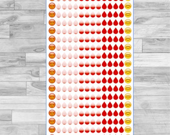 18 Months Menses, That time of the Month Period Flow Trackers| Planner Stickers