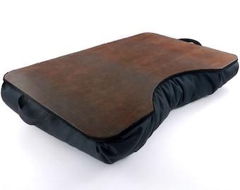 Jumbo Brown Faux Alligator Leather Lap Desk